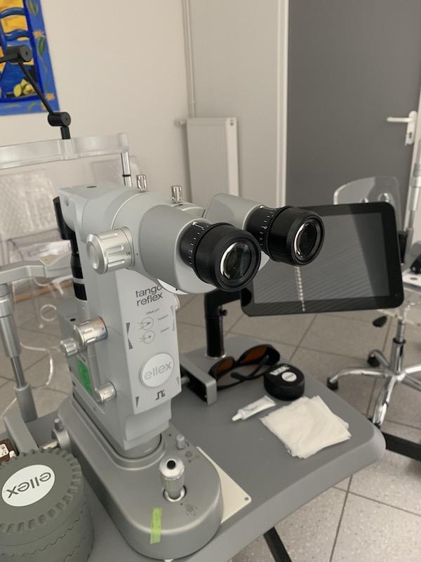laser SLT pour traitement du glaucome